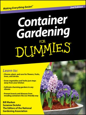 cover image of Container Gardening For Dummies