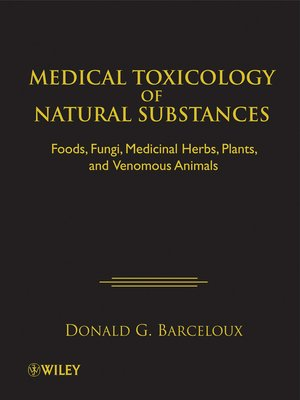 cover image of Medical Toxicology of Natural Substances