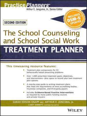 cover image of The School Counseling and School Social Work Treatment Planner, with DSM-5 Updates