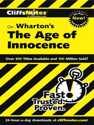 cover image of CliffsNotes on Wharton's The Age of Innocence