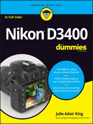cover image of Nikon D3400 For Dummies