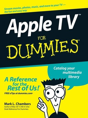 cover image of Apple TV For Dummies