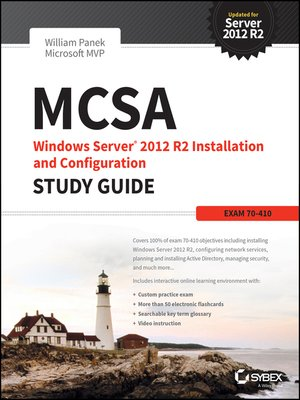 cover image of MCSA Windows Server 2012 R2 Installation and Configuration Study Guide