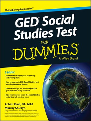cover image of GED Social Studies for Dummies