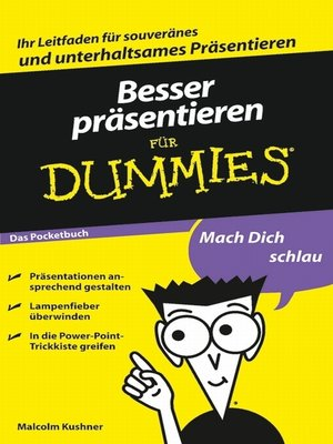 cover image of Besser präsentieren für Dummies