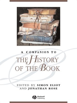 cover image of A Companion to the History of the Book