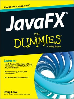 cover image of JavaFX For Dummies