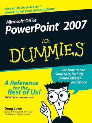 cover image of PowerPoint 2007 For Dummies