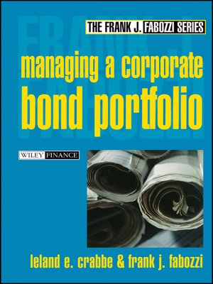 cover image of Managing a Corporate Bond Portfolio