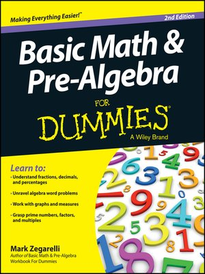 cover image of Basic Math and Pre-Algebra For Dummies