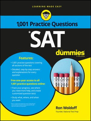 cover image of 1,001 SAT Practice Problems for Dummies
