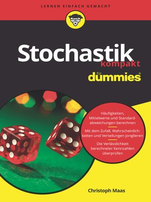 cover image of Stochastik kompakt für Dummies