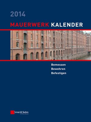 cover image of Mauerwerk-Kalender 2014