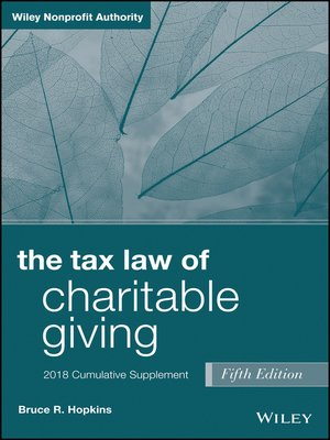 cover image of The Tax Law of Charitable Giving, 2018 Cumulative Supplement