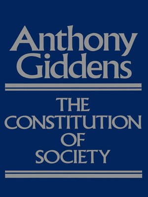 cover image of The Constitution of Society