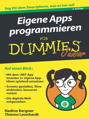 cover image of Eigene Apps programmieren für Dummies Junior