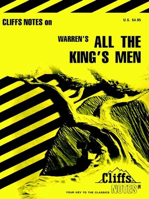 cover image of CliffsNotes on Warren's All The King's Men