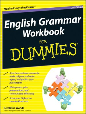 cover image of English Grammar Workbook For Dummies
