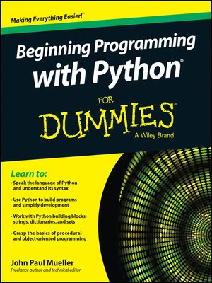 cover image of Beginning Programming with Python For Dummies