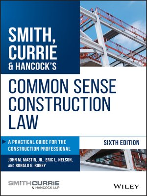 cover image of Smith, Currie & Hancock's Common Sense Construction Law