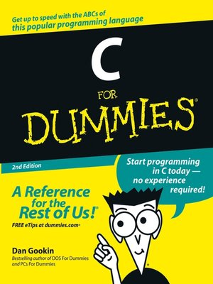 cover image of C For Dummies