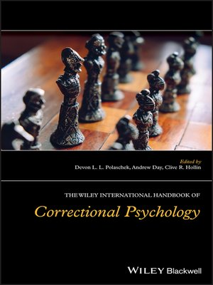 cover image of The Wiley International Handbook of Correctional Psychology