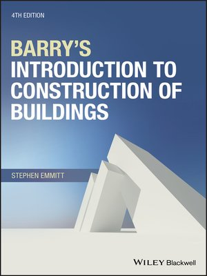 cover image of Barry's Introduction to Construction of Buildings