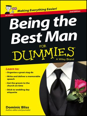 cover image of Being the Best Man For Dummies