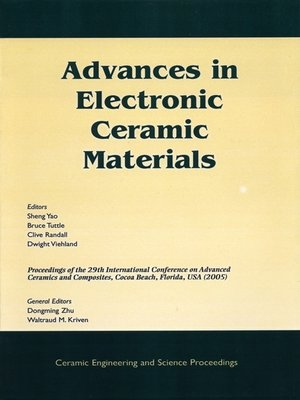 cover image of Advances in Electronic Ceramic Materials