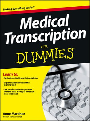 cover image of Medical Transcription For Dummies