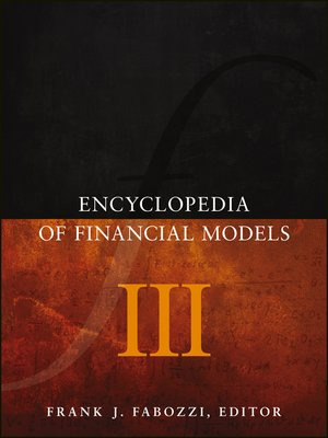 cover image of Encyclopedia of Financial Models, Volume III