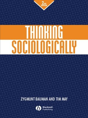 cover image of Thinking Sociologically