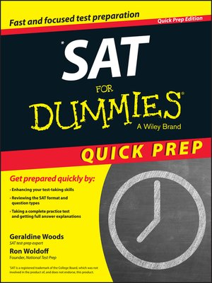 cover image of SAT For Dummies