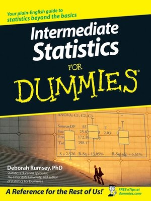 cover image of Intermediate Statistics For Dummies