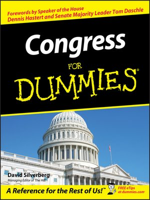 cover image of Congress For Dummies