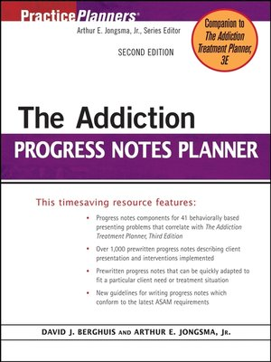 cover image of The Addiction Progress Notes Planner