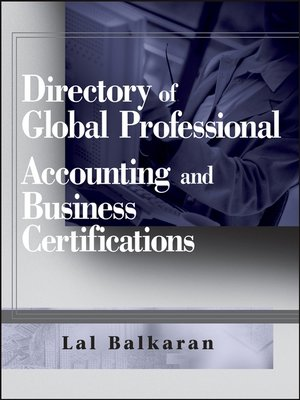 cover image of Directory of Global Professional Accounting and Business Certifications