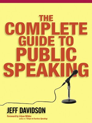 cover image of The Complete Guide to Public Speaking