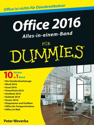cover image of Office 2016 für Dummies Alles-in-einem-Band