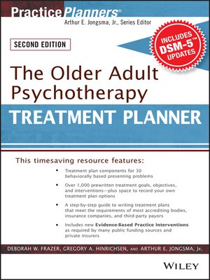cover image of The Older Adult Psychotherapy Treatment Planner, with DSM-5 Updates