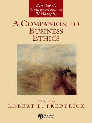 cover image of A Companion to Business Ethics