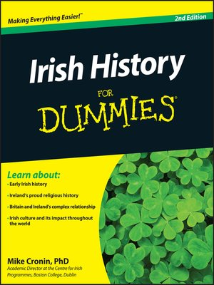 cover image of Irish History For Dummies