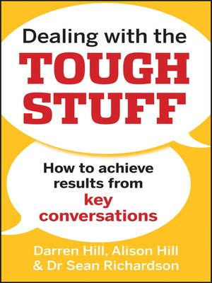 Dealing with the Tough Stuff by Darren Hill.                                              AVAILABLE eBook.