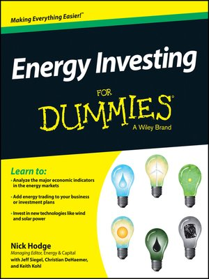 cover image of Energy Investing For Dummies