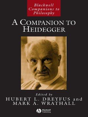 cover image of A Companion to Heidegger