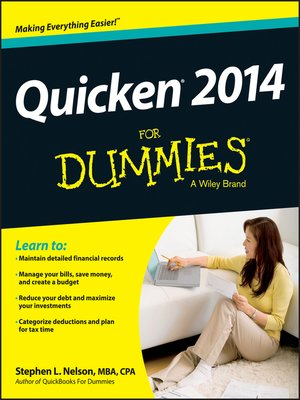 cover image of Quicken 2014 For Dummies