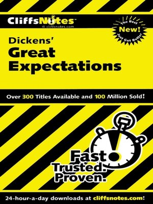 cover image of CliffsNotes on Dicken's Great Expectations