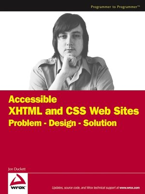cover image of Accessible XHTML and CSS Web Sites