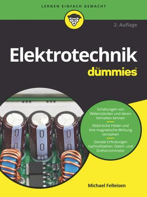cover image of Elektrotechnik für Dummies