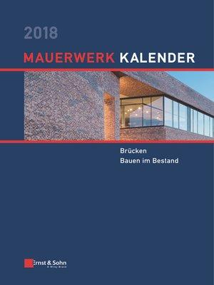 cover image of Mauerwerk Kalender 2018